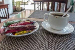 Coffee at a Laos cafe. Photo: Tara Tadlock