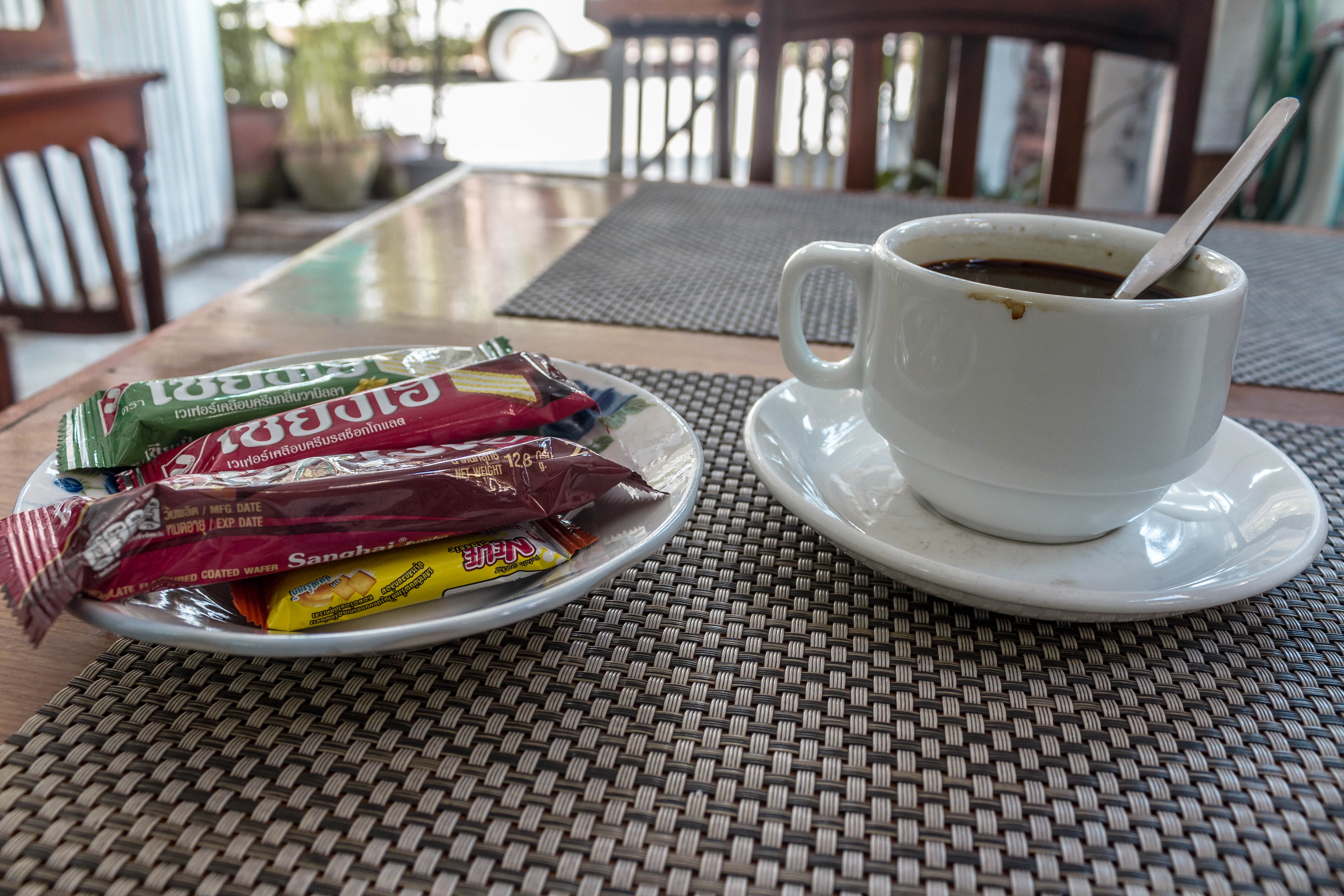 Coffee at a Laos cafe. Photo: Tara Tadlock