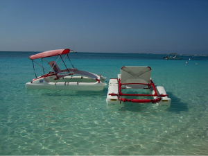 Boats on the water in the Caribbean.