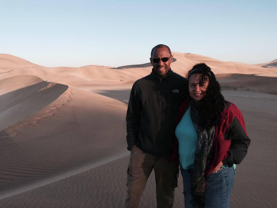 Tonya and Ian of World Footprints in the Namibian desert.