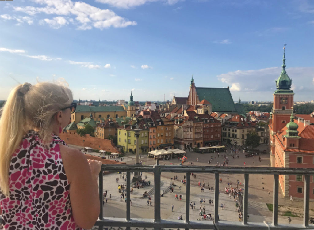 Author viewing Castle Square from Taras Widowkowy. Photo: Patti Morrow