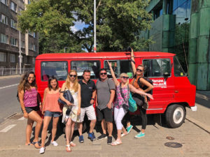 Warsaw travel companions. Photo: Patti Morrow