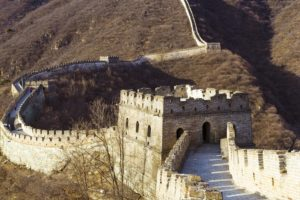 One of the wonders of the world, the Great Wall of China.