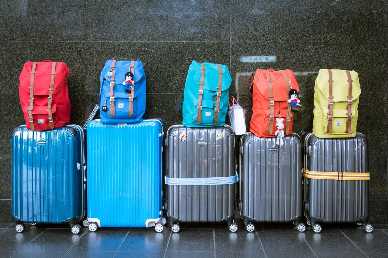 Row of luggage