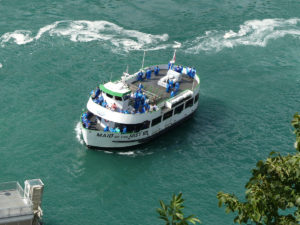 View of Maid of the Mist on a tour of Niagara Falls. Photo: Kathleen Walls