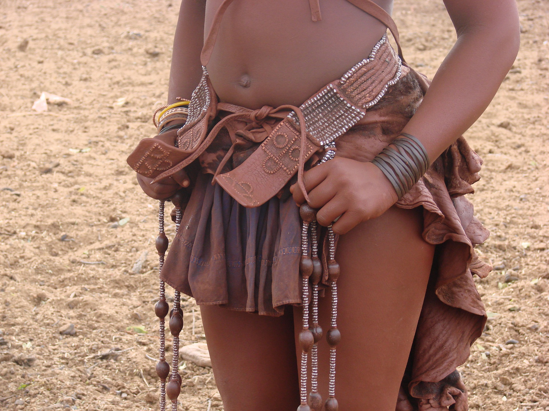 Himba woman in typical dress