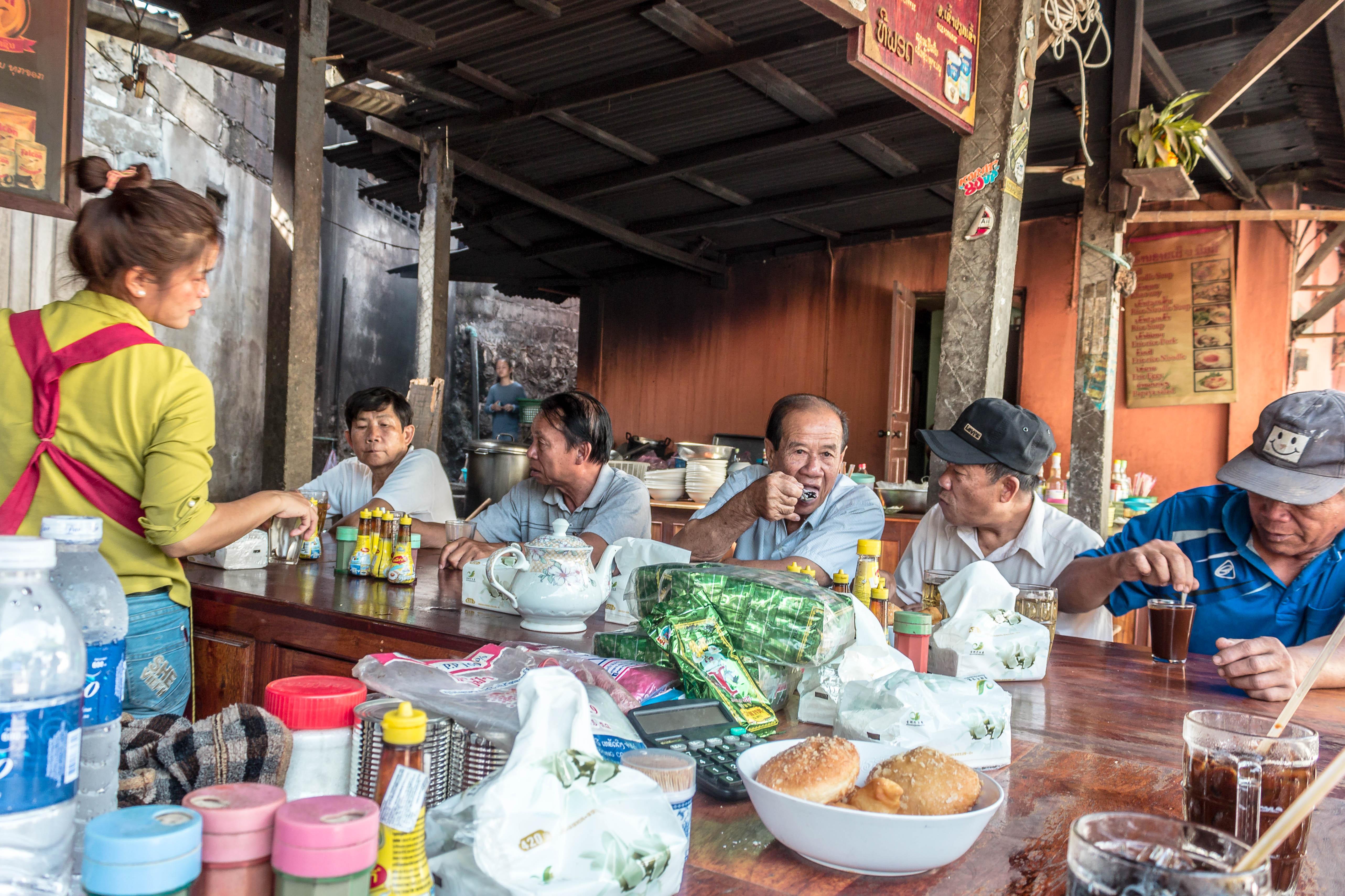 A local cafe with a local gathering. Photo: Tara Tadlock