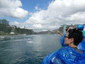 Embarking on a tour of Niagara Falls on board Maid of the Mist. Photo: Kathleen Walls