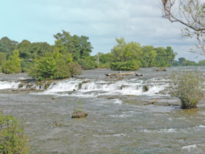 View of rapids from 3 Sisters Island. Photo: Kathleen Walls