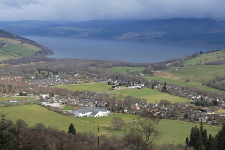 A view overlooking Loch Ness and the village of Drumnadrochit. Photo courtesy of Scott-Ireland Photography