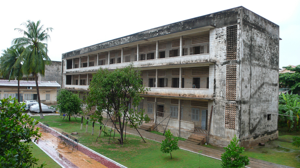 Toul Sleng Genocide Museum is where people were tortured and mutilated before being shot on the Killing Fields. This structure was once a school. Photo: CreativeCommons