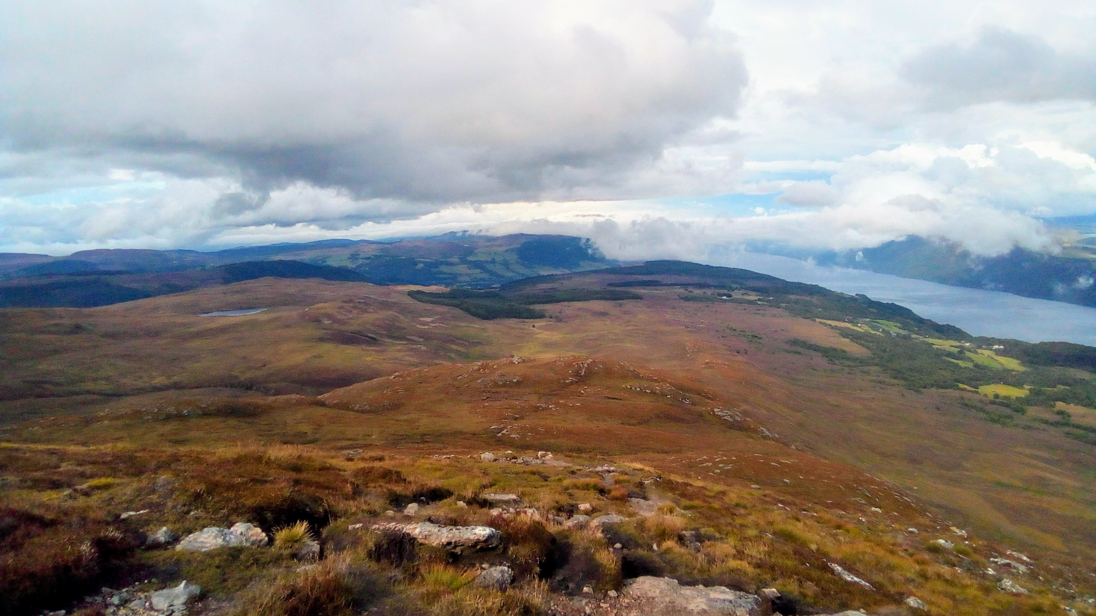 Looking down the peaks of Meall Fuar-mhonaidh. Photo: Daniel Baldwin