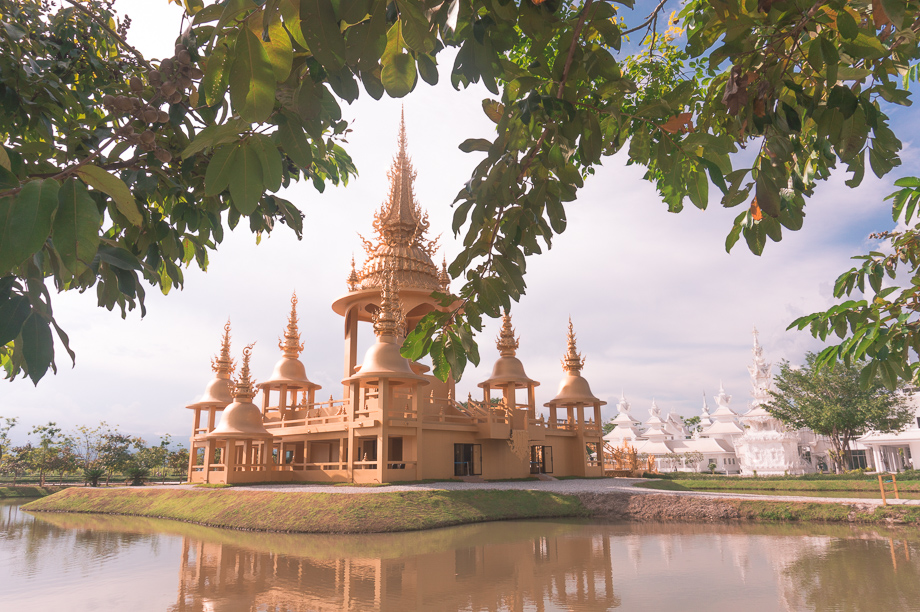 Chiang Rai temple with White Temple in the background. Photo: Katie Dundas