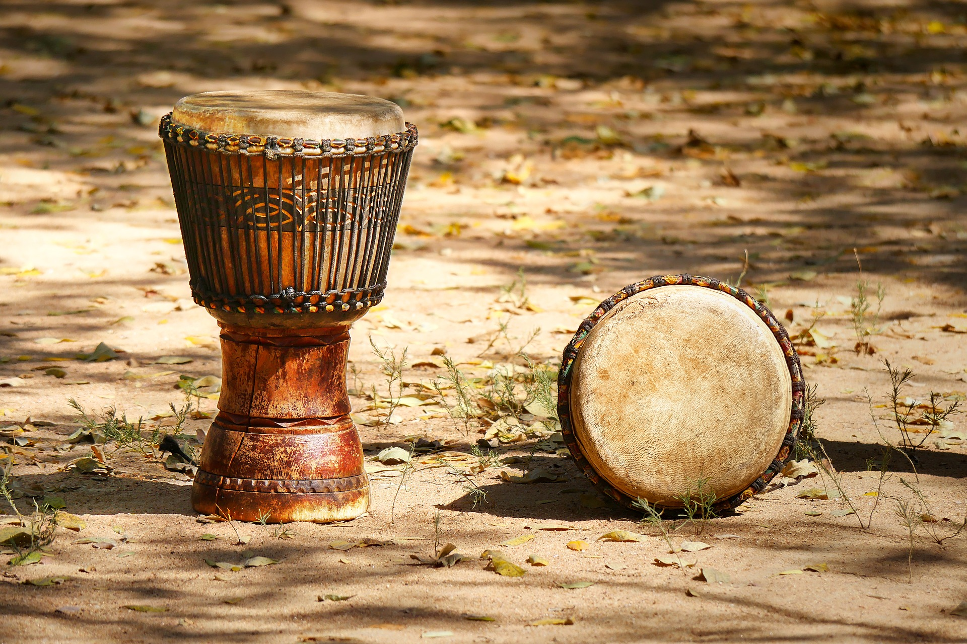 African drums in Zimbabwe