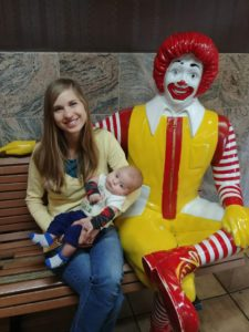 Photo of author's family with Ronald McDonald