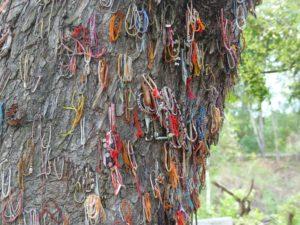 Prayer beads in Choeung Ek - the Killing Fields