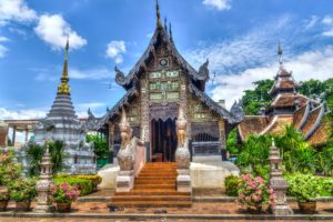 A temple in the Chiang Mai province in Thailand.