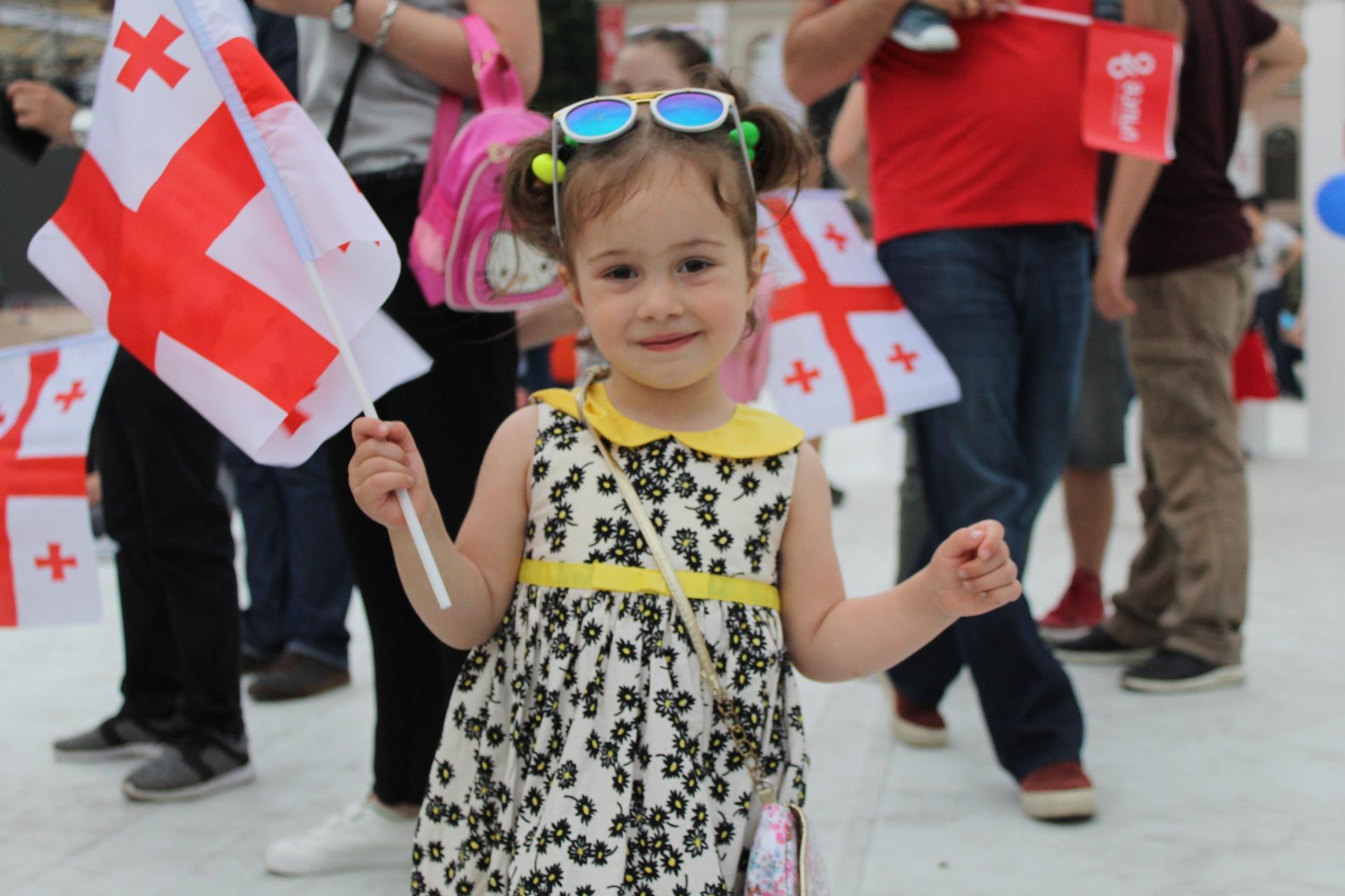 A little Georgian girl