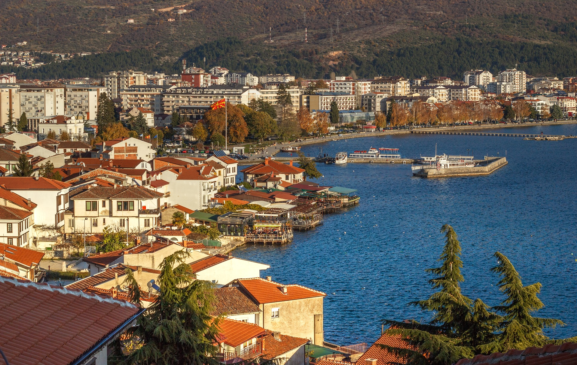 The Ohrid Harbor