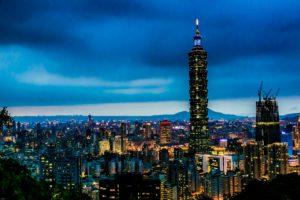 Night view of Taipei 101