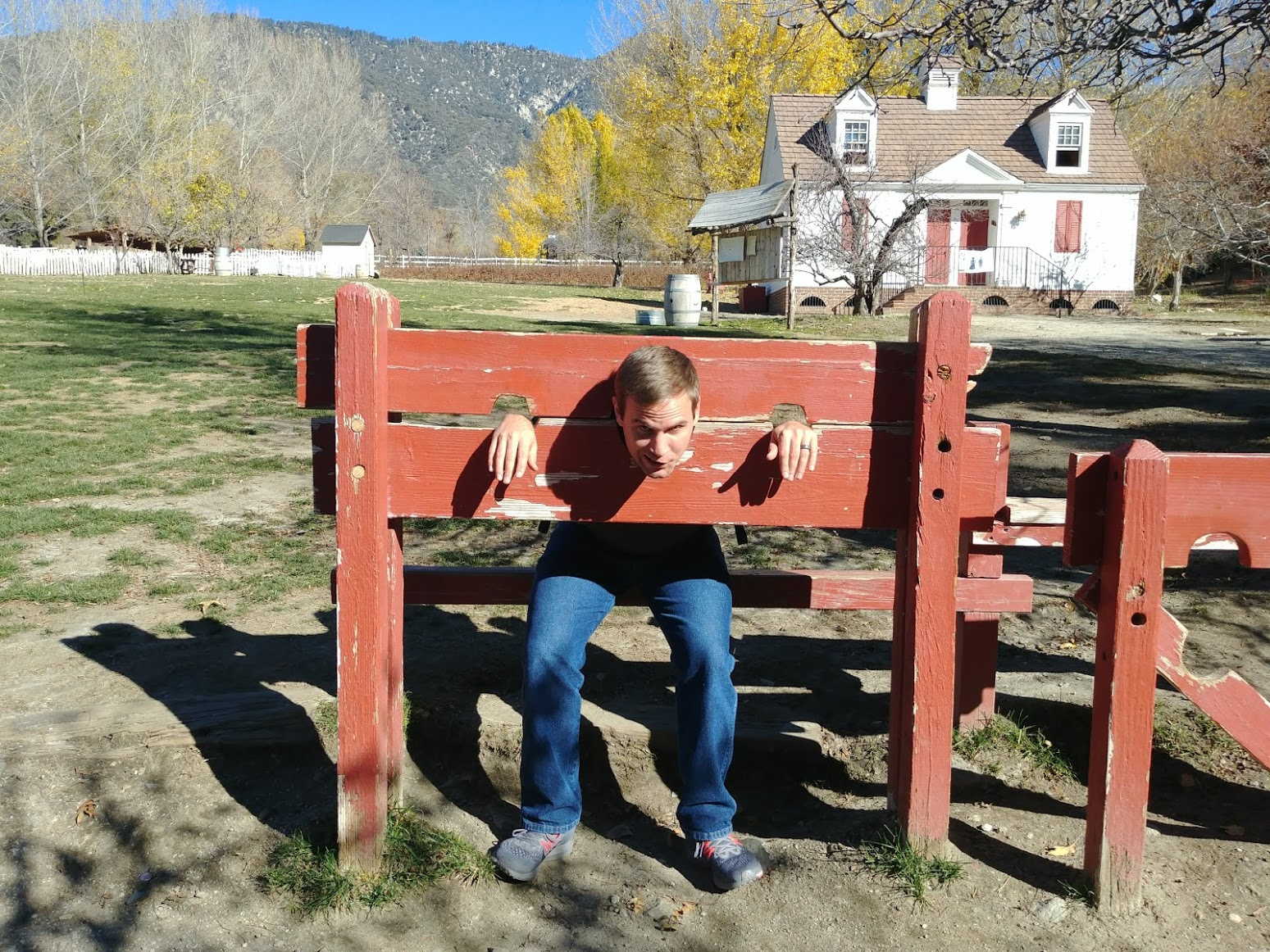Not my idea of a good colonial experience on Riley's Farm. Photo: Breana Johnson