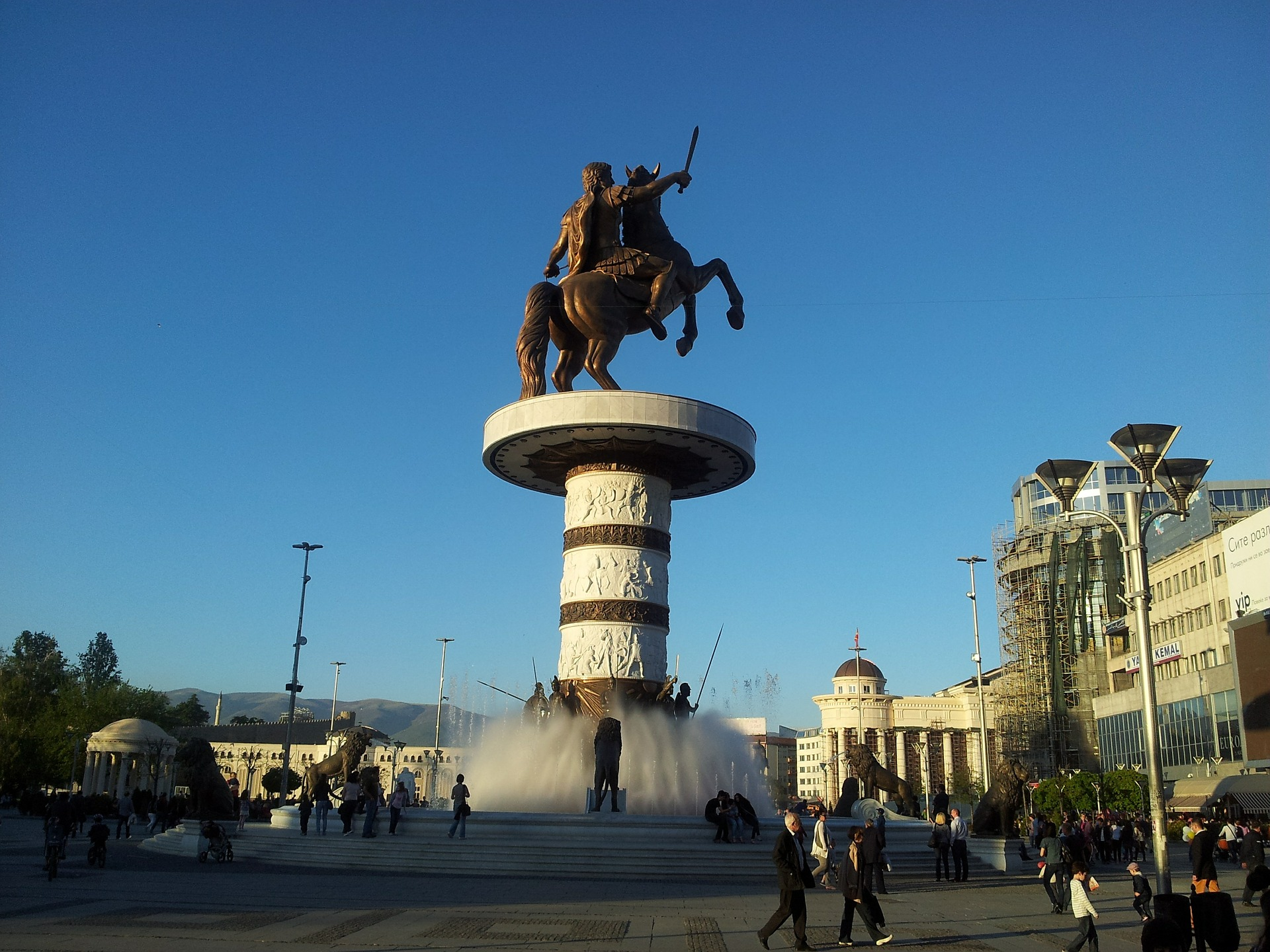 This fountain in the Main Square of Skopje is thought to be Alexander The Great