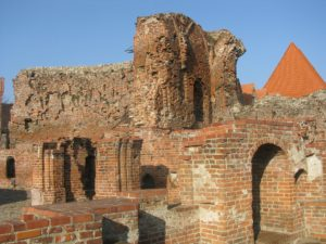 The Ruins of the Crusaders Castle in Torun, Poland.