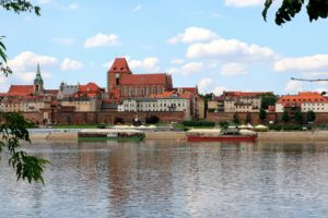 View of the Old City of Torun, Poland.