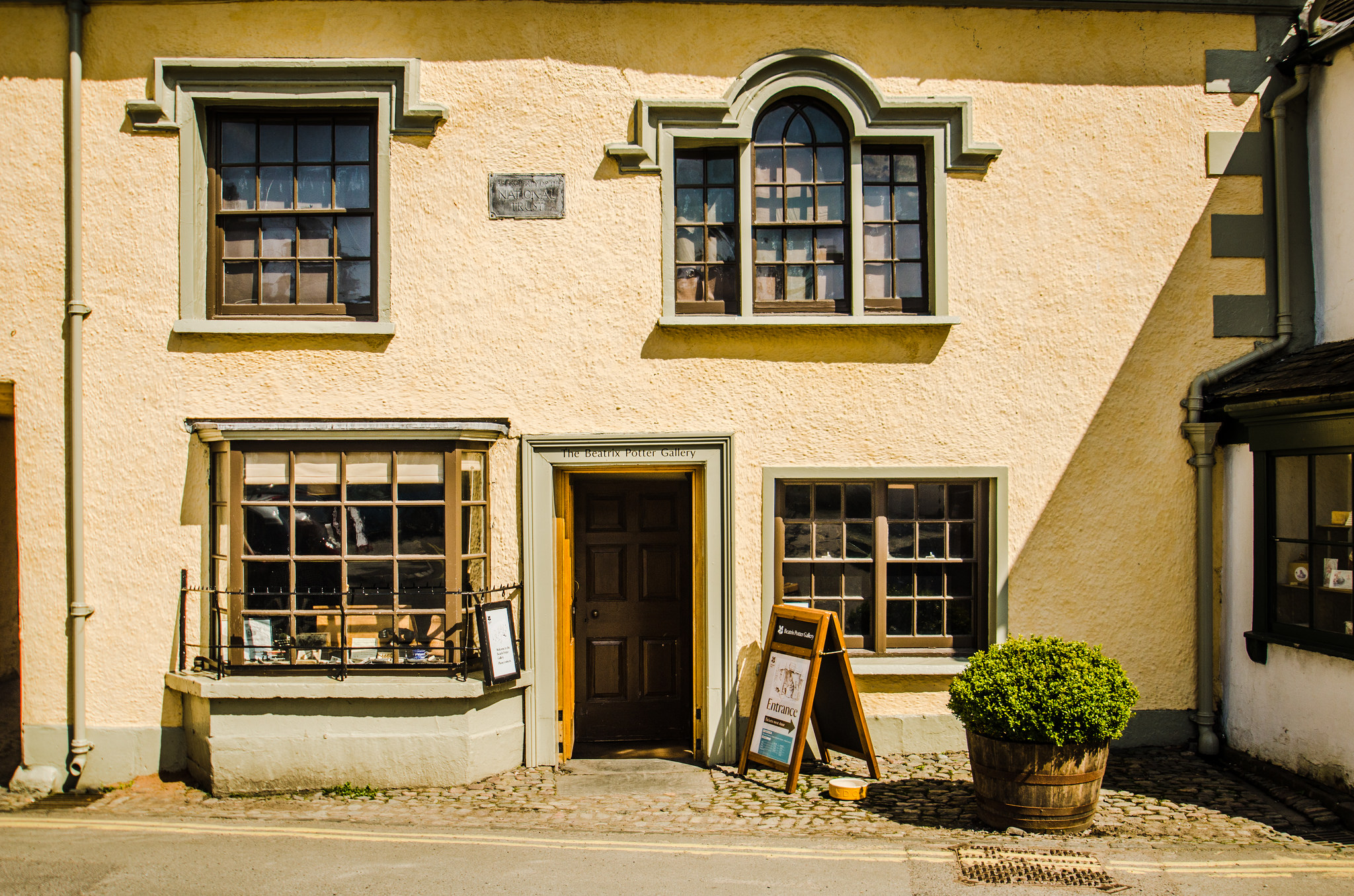 Exterior of the Beatrix Potter Gallery in Hawkshead. Photo courtesy of Sykes Collages.