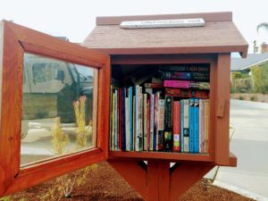 Little free library in a mail box
