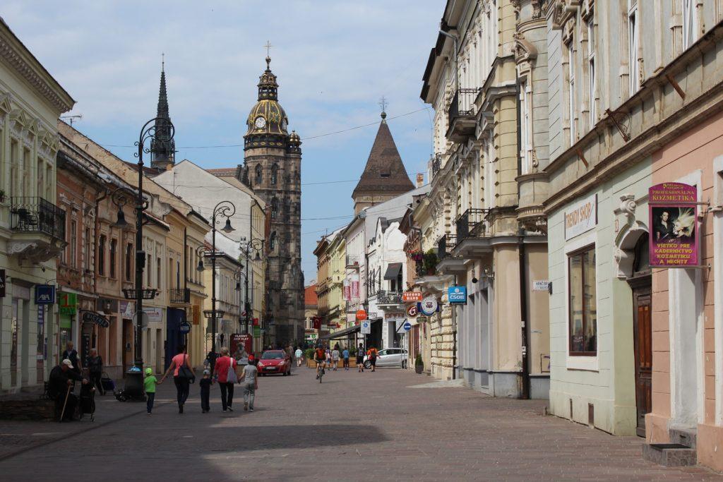 Kosice, Slovakia street.