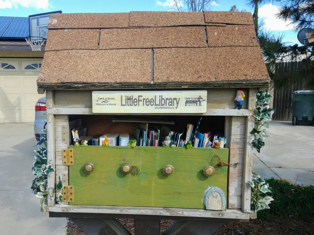 Little free library box. Photo: Breana Johnson
