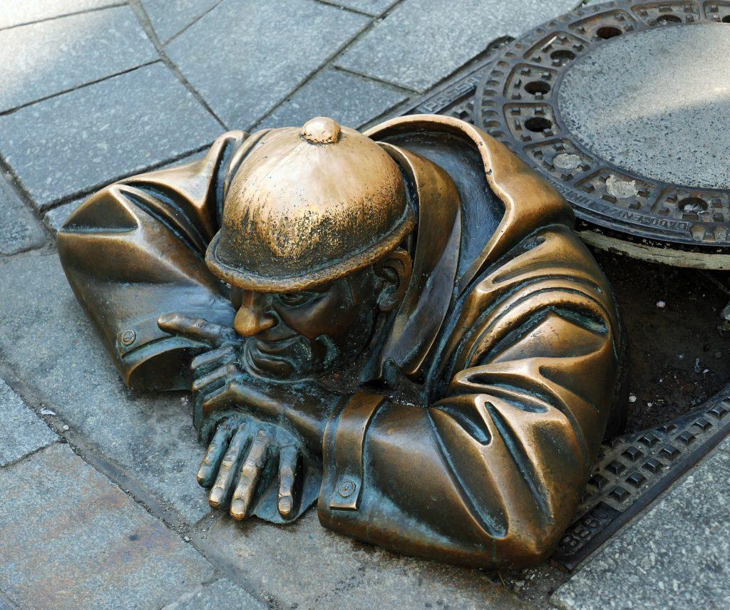 Street artwork in Bratislava