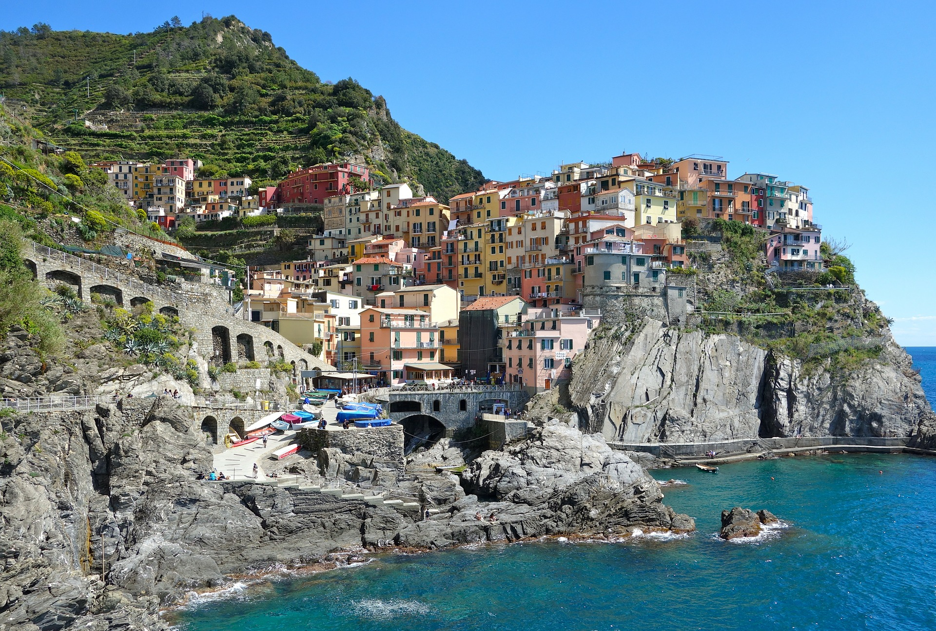 Cinque Terre and mountain view