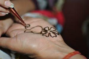 Henna art is very common in a Medina.