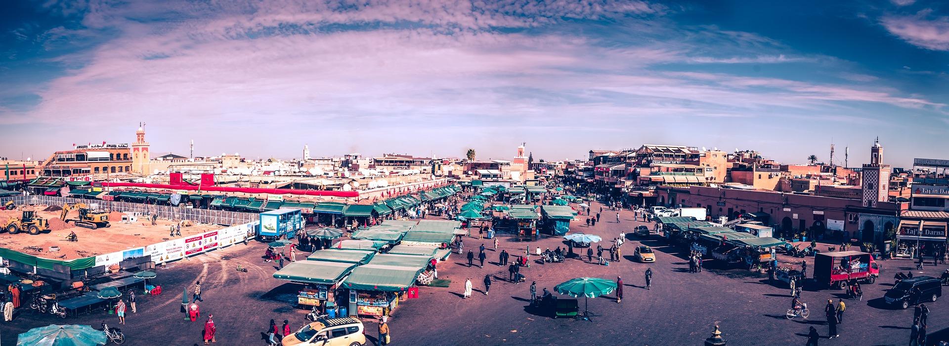 Marrakech Medina in Morocco.
