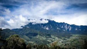 View of Mount Kinabalu in Borneo.