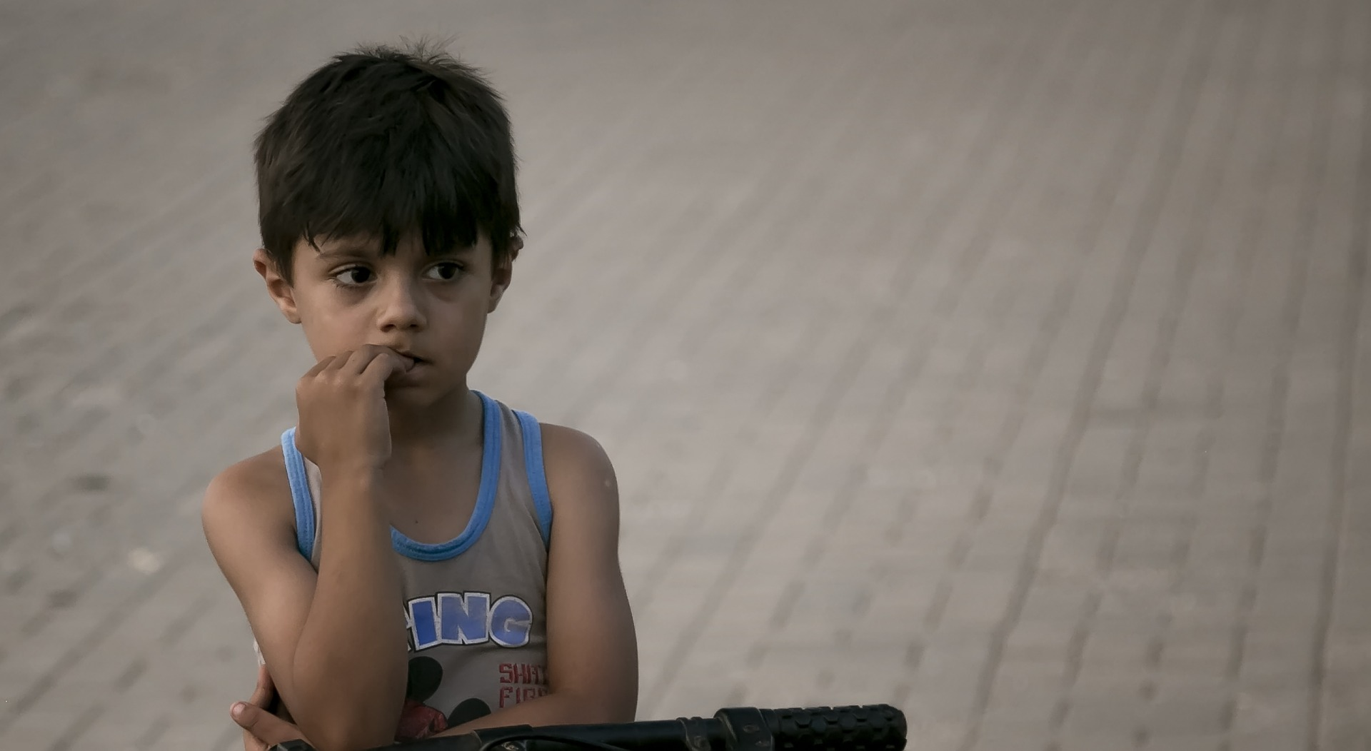 Photo of a Syrian child.