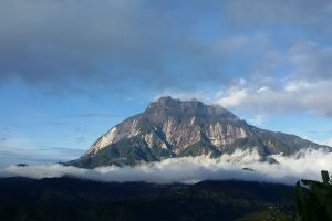 A view of Mount Kinabalu.