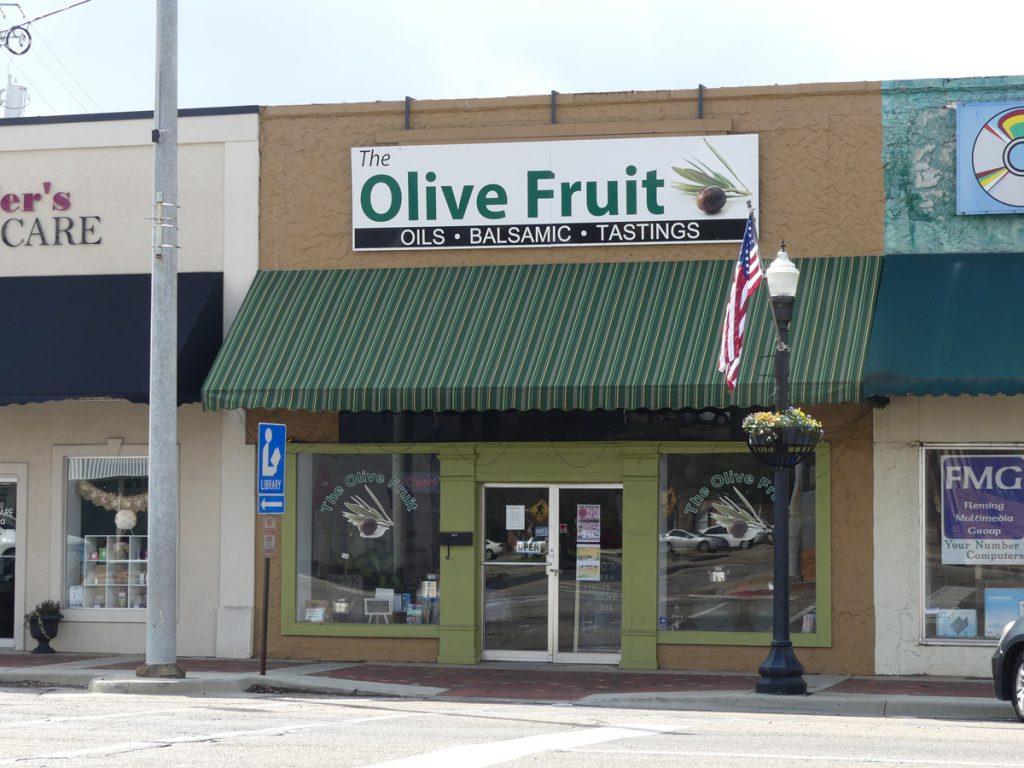 Exterior of Olive Fruit store. Photo: Kathleen Walls