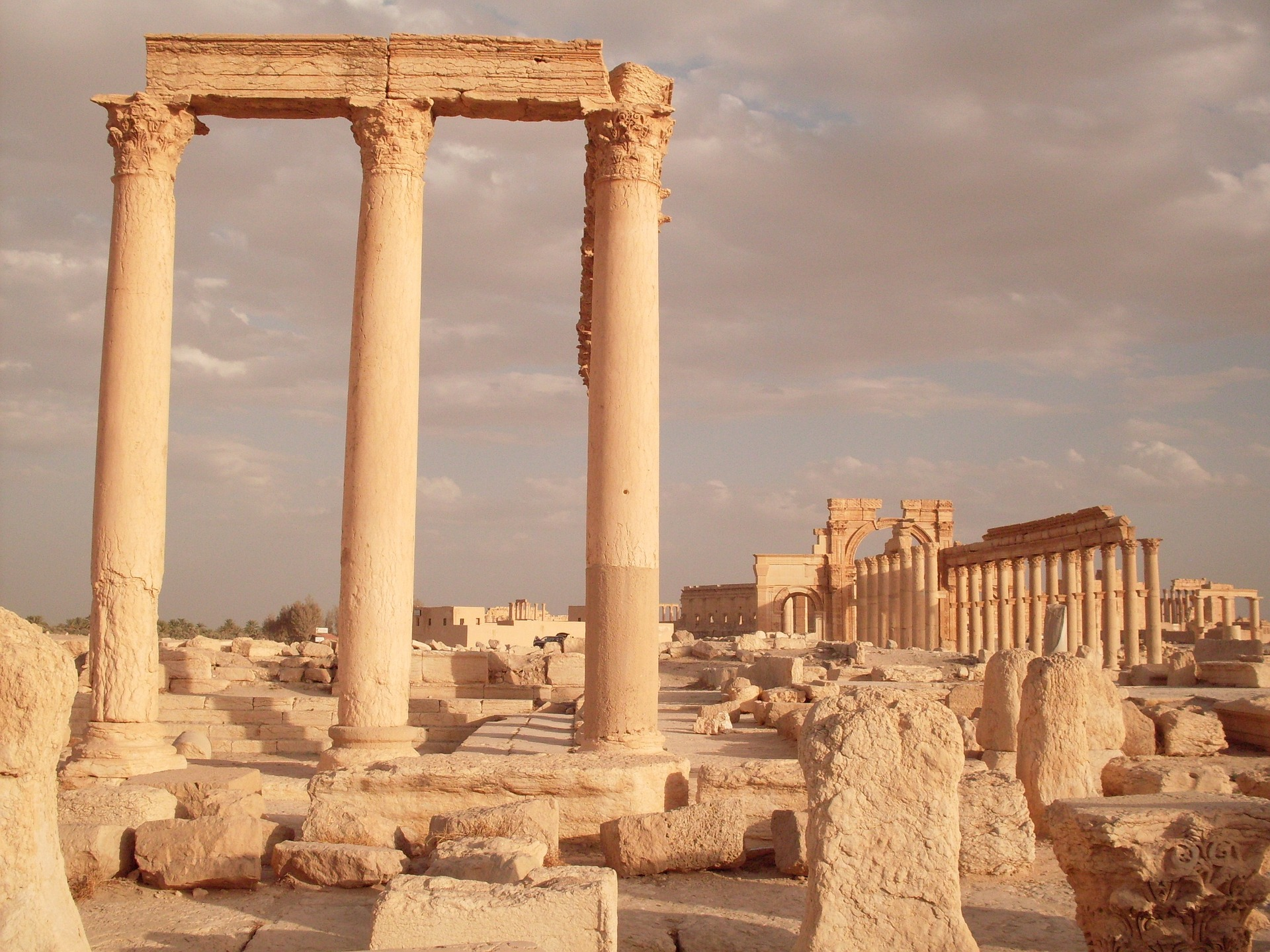 The historic site of Palmyra in Syria.