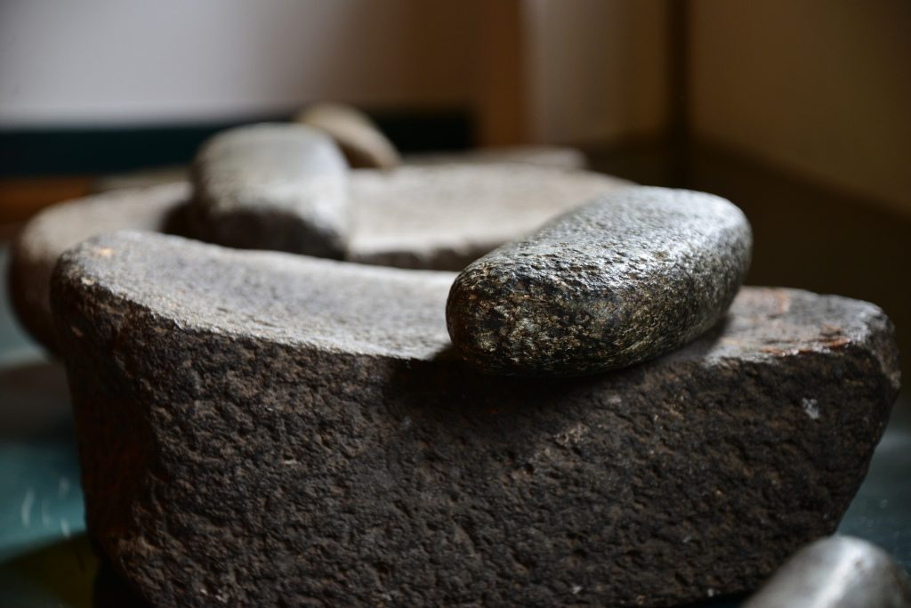 Mapuche stone bowl artifact.