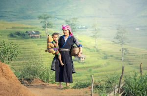An indigenous Oma woman in Laos.