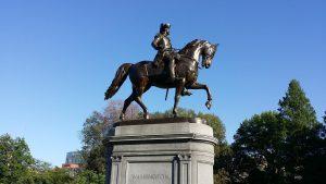 George Washington statute located in Boston, Mass.