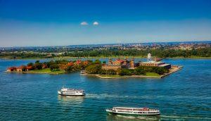 View of Ellis Island
