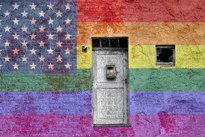 Gay pride flag painting