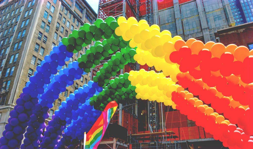 Gay Pride balloons
