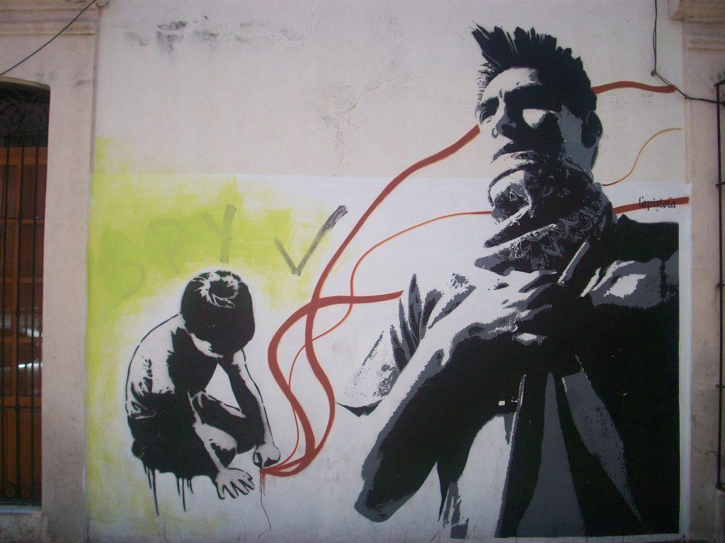 Street art mural in Oaxaca