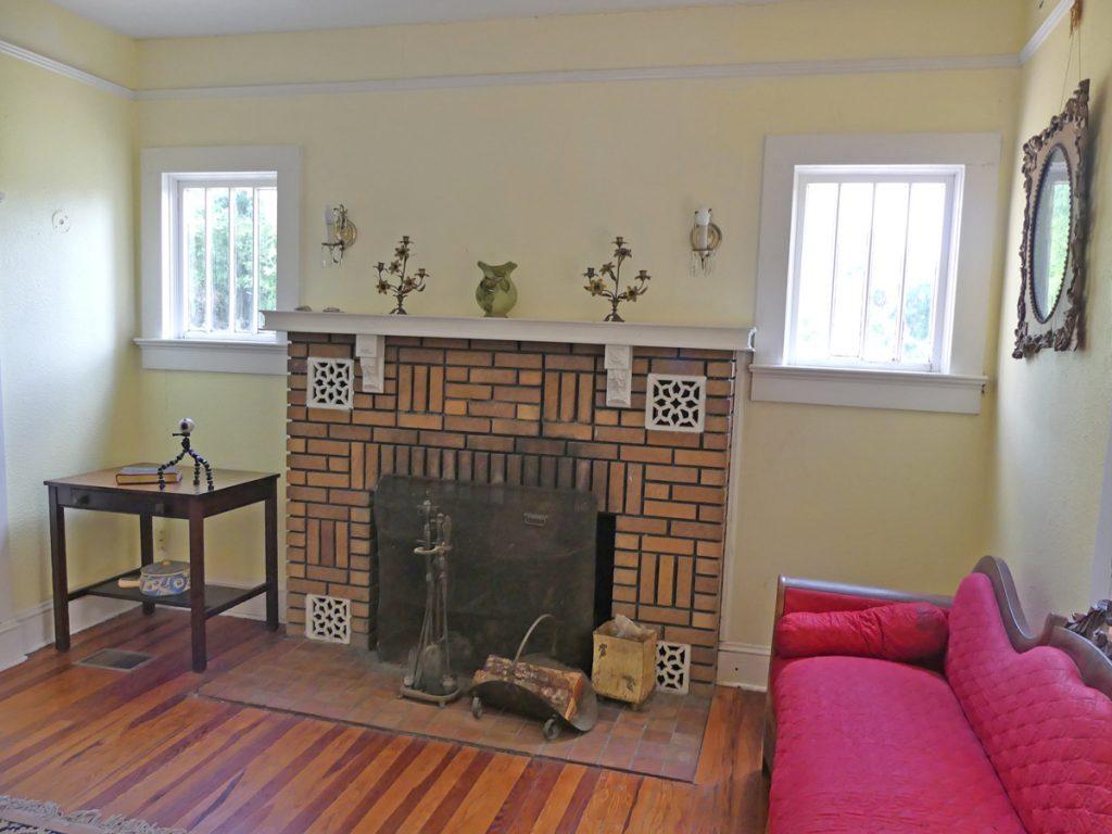 The living room inside of Ma Barker's house. Photo: Kathleen Walls