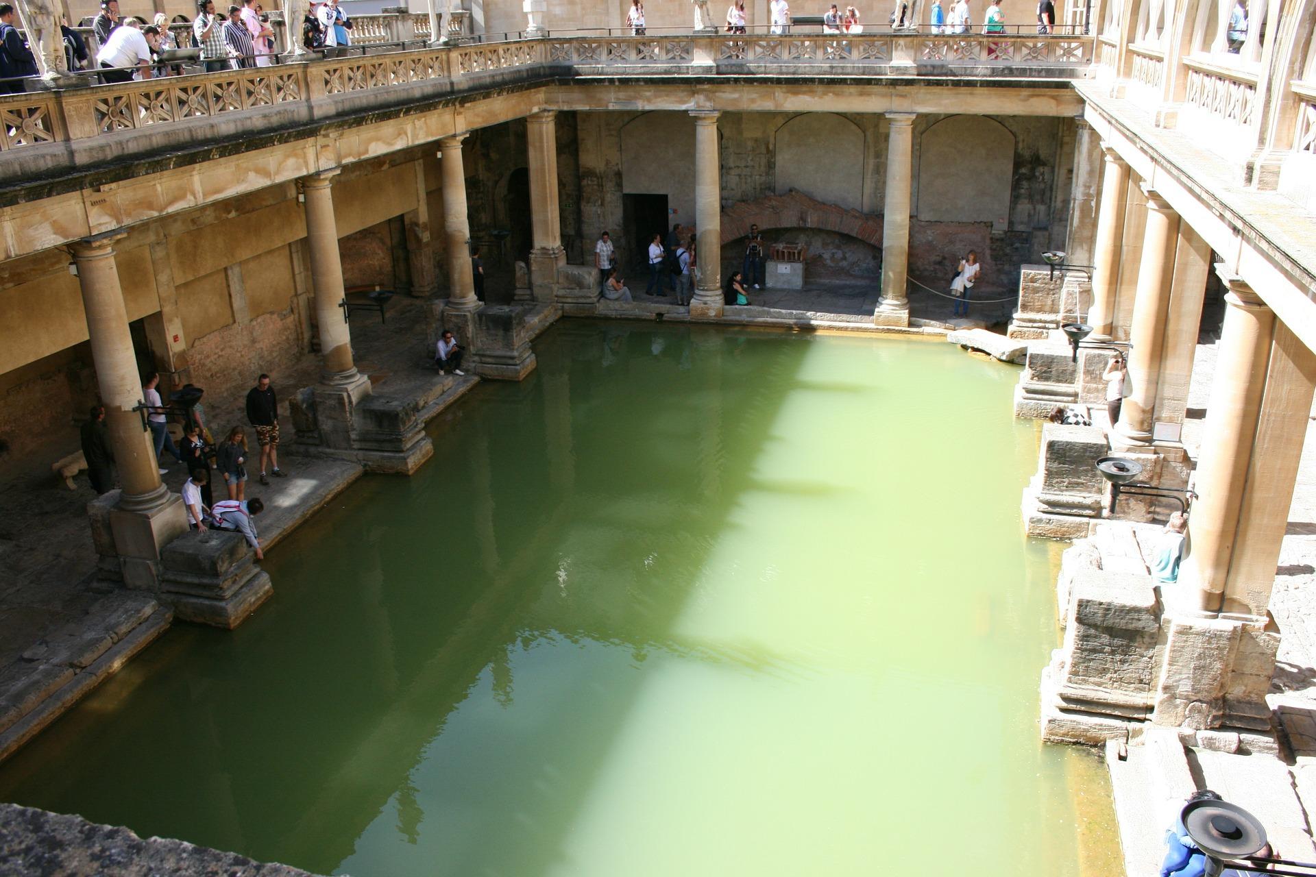 Roman baths of Bath, England.